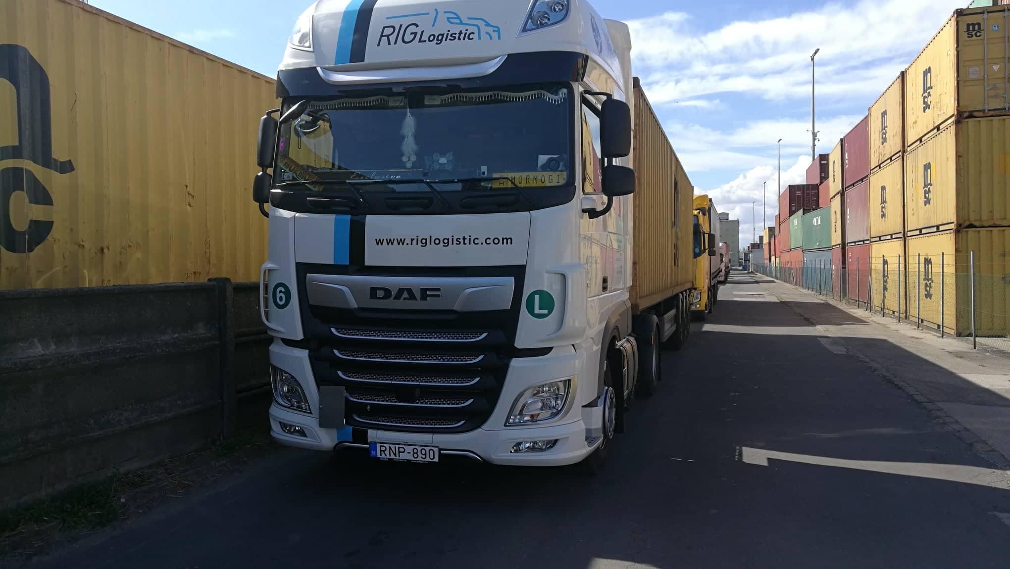 Rig logistic - konténer szállítmányozás