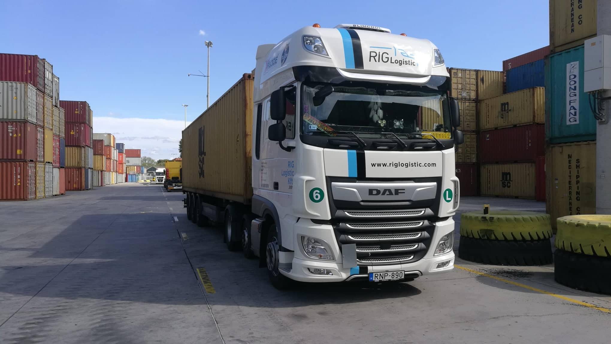 Rig logistic - konténer szállítmányozása